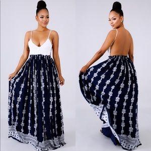 Dresses & Skirts - Open Back Maxi Dress